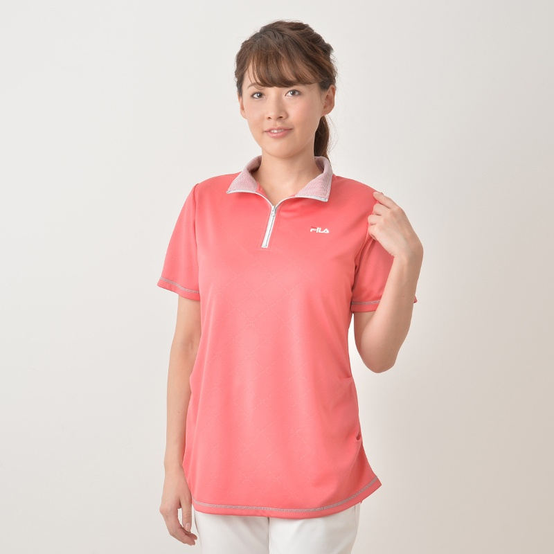 FILA UVサイドタックハーフジップシャツ
