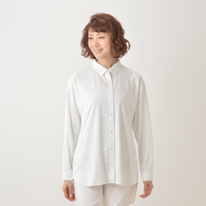 ミズノ 着る木陰 遮熱UVロングシャツ
